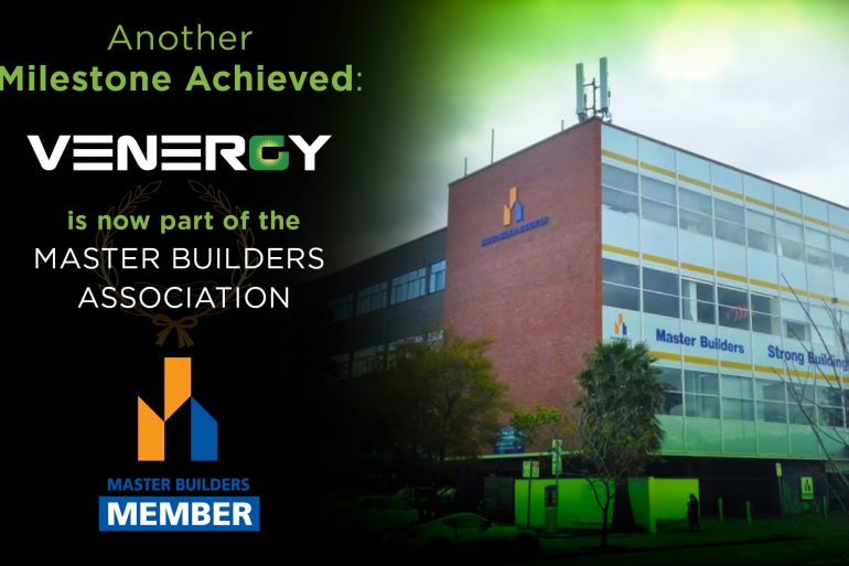 Venergy Joins the Master Builders Association (MBA)